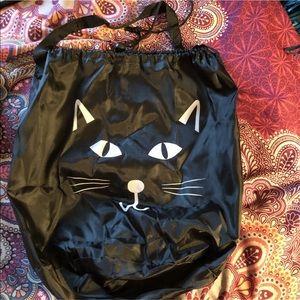 Handbags - ➿black cat drawstring bag➿